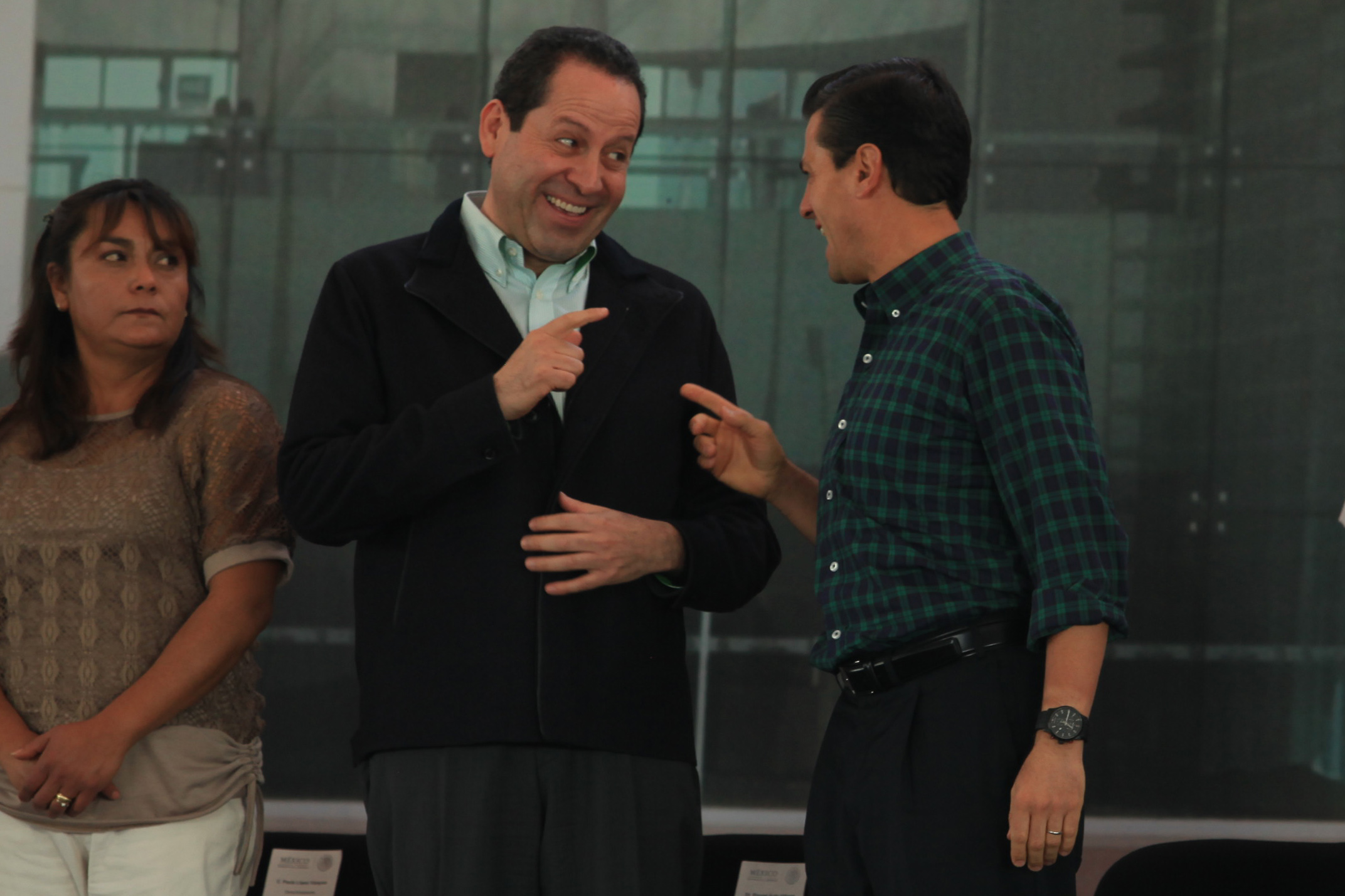 Eruviel Ávila y Enrique Peña. En Axapusco.