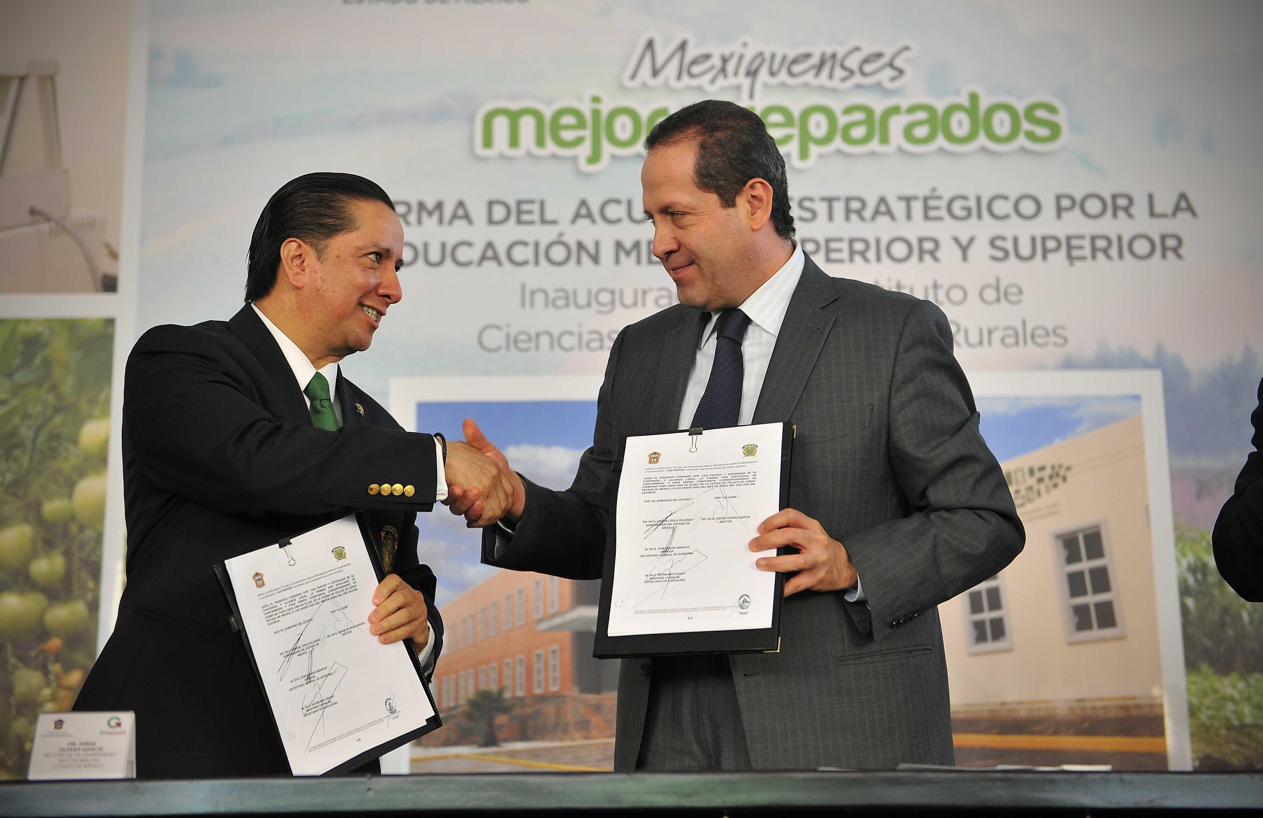 Eruviel Ávila y Jorge Olvera. Convenio estratégico.