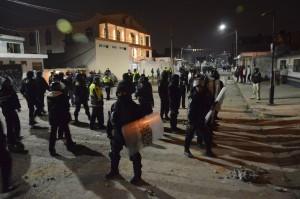 Distubios en Toluca, tras riña entre particulares. Foto: Agencia MVT.