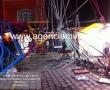 Siete niños lesionados por caída de juego mecánico en feria de Calimaya