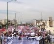 Filoperredistas marchan en Ecatepec contra la inseguridad y maquillaje del municipio