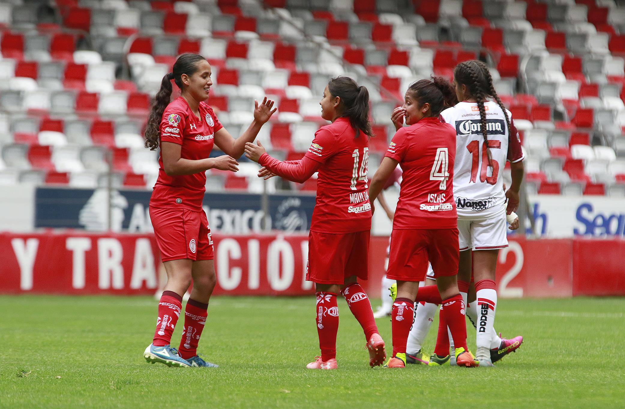 Afbeeldingsresultaat voor deportivo toluca femenil